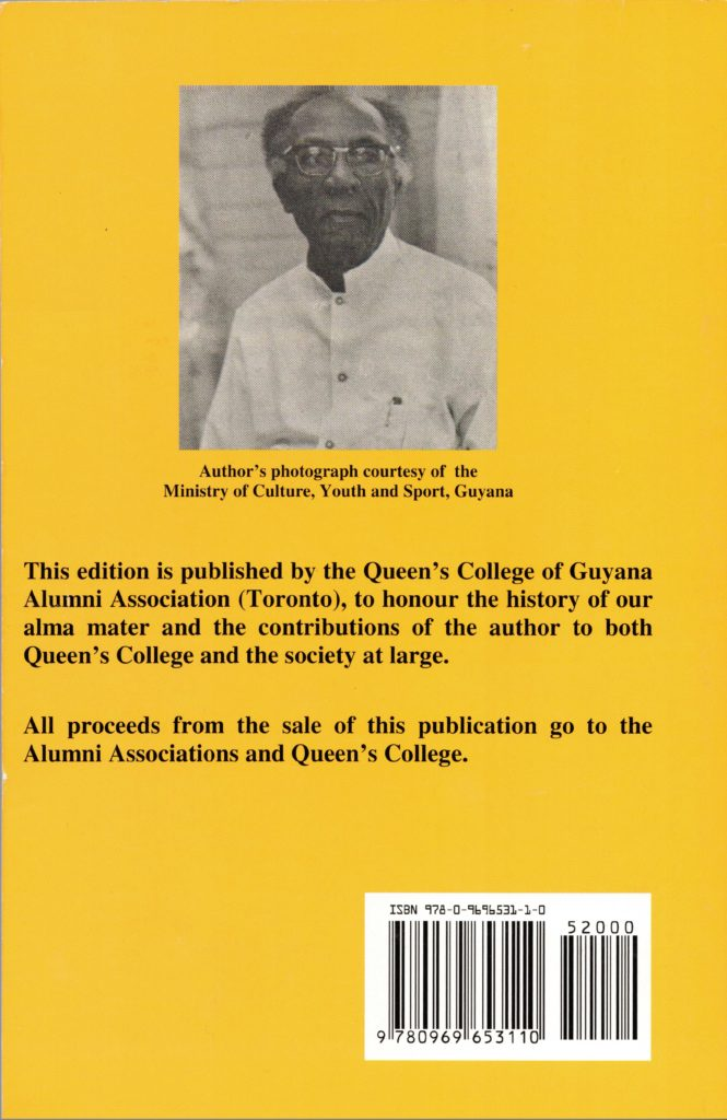 Professor Norman Cameron Queens College Guyana